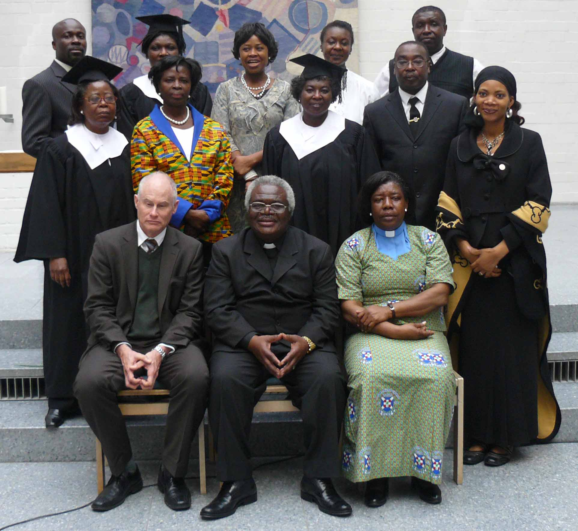The Choir with the Moderator of the PCG, Rev. Riley Raudonat and Rev. Elizabeth Aduama