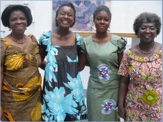 Members with Dora Nyaaba Alepasse from the Northern Ghana Partnership during her visit to Frankfurt.