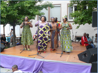 Our Singing Band at the International Pentecostal Festival.